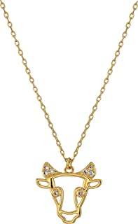 Kate Spade New York Women's Celestial Charm Taurus Pendant Necklace Clear/Gold One Size