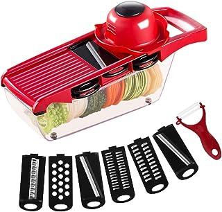 ZJZ Trancheuse à Légumes Multifonction Sûr et Durable Sans BPA Convient pour Pomme de terre, Oignons et autres Légumes et ...