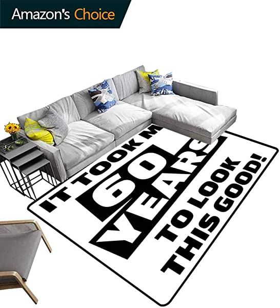 60th Birthday Moir Kids Carpet Playmat Rug It Took Me 60 Years Party Quote Slogan Admiration Theme Monochrome Image Easy Maintenance Area Rug Living Room Bedroom Carpet 5 X 8