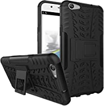Ikwcase OPPO F1s Case, Heavy Duty Armor Tough Hybrid Shockproof Dual Layer Kickstand Protective Case Cover for OPPO A59 / OPPO F1s Black