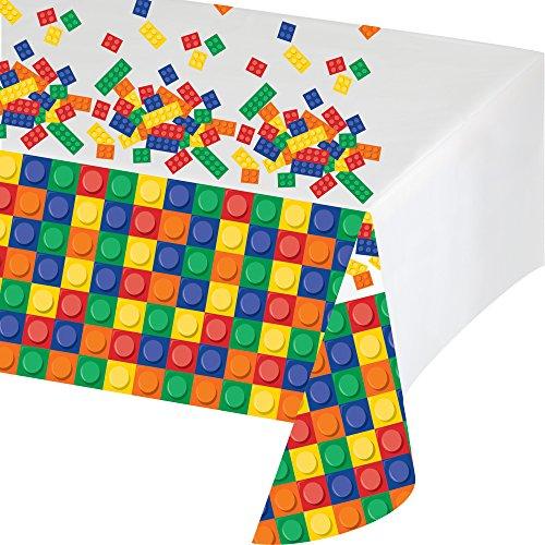 Creative Converting 315252 Block Birthday Kunststoff-Tischdecke, Mehrfarbig, 137,2 x 259,1 cm