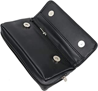 SenseYo Leather Smoking Tobacco Pipe Pouch Case Bag for 2 Pipes Tamper Filter Tool Pipe Pocket Tool