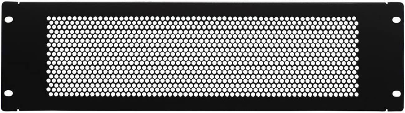 2U Blank Rack Mount Panel Spacer with Ventilation Holes for 19-inch Server Network Rack cabinets or cabinets, Black
