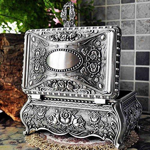 Yubingqin Joyería Retro Estilo Europeo de Corea Princesa Caja de Metal a Mano joyería Caja de Almacenamiento de la joyería del Anillo Caja de Regalo