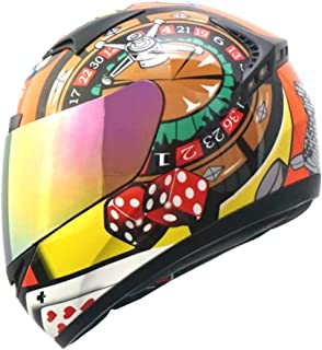 1STORM MOTORCYCLE BIKE FULL FACE HELMET BOOSTER Lucky Roulette and Poker