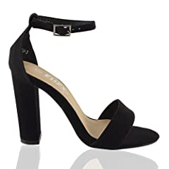 cf79ec5afe1d ESSEX GLAM Womens Ankle Strap High Heel Open Toe Sandals Stra .