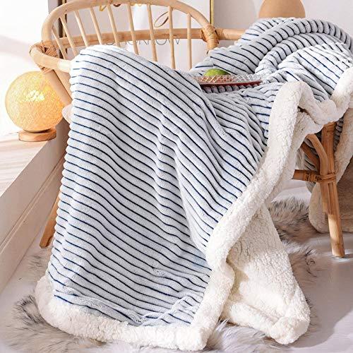 XUMINGLSJ Mantas para Sofás de Franela- Manta para Cama Reversible de 100% Microfibre Extra Suave -Azul_El 180 * 200cm