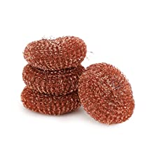 Kleeno by Cello Copperized Scrubber 4 pcs, Assorted, Large (KLNO_CPRSCRBBR_4)