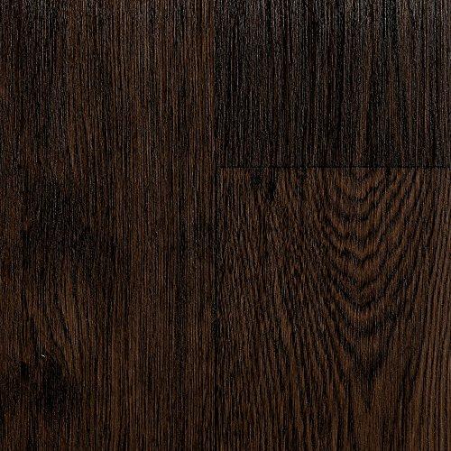 BODENMEISTER BM70555 Vinylboden PVC Bodenbelag Meterware 200, 300, 400 cm breit, Holzoptik Diele Eiche dunkel