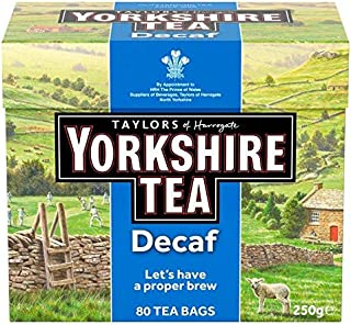 Yorkshire Decaf Teabags - 80 per pack (0.55lbs)
