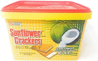 Croley Foods Sunflower Crackers Coconut Flavored, Net Wt 800g (28.3oz)