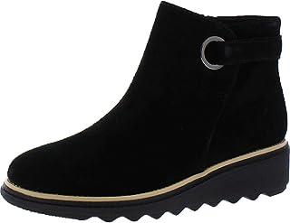 Clarks Women's, Sharon Spring Boot Black Suede 11 W