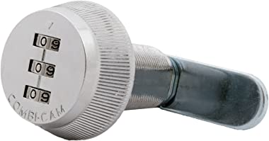 "FJM Security Combi-Cam 7850R-XL Combination Cam Lock, 1-3/8"" Chrome Finish"