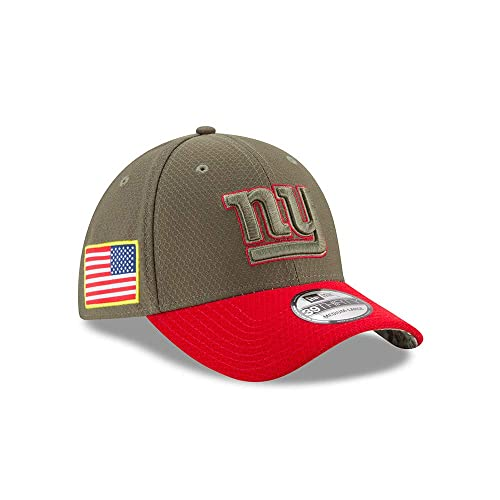 New Era NFL NEW YORK GIANTS Authentic 2017 Sideline 39THIRTY Stretch Fit Game Cap