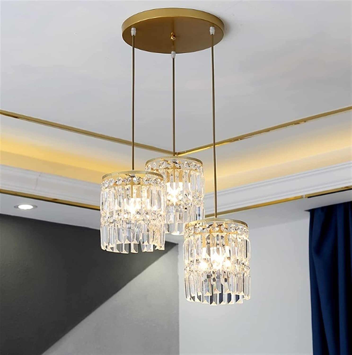 Chandelier Fixture Fresno At the price of surprise Mall Modern Raindrop Glass for Light Pendant Dinin