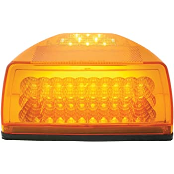 Grand General 77232 Amber Spyder 42-LED Peterbilt Headlight Turn Signal Sealed Light with 3 Wires for Front/Park/Turn Functions