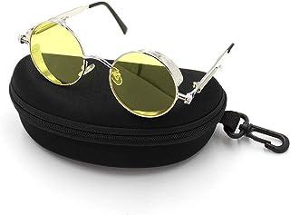a2331ba2e3 Vintage Steampunk retro metal redondo círculo marco gafas de sol Retro ronda  círculo Steampunk polarizadas gafas