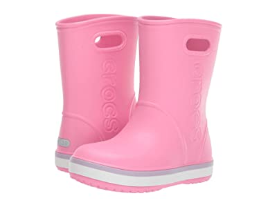 Crocs Kids Crocband Rain Boot (Toddler/Little Kid) (Pink Lemonade/Lavender) Girl