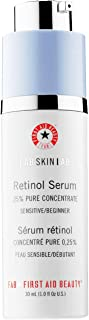 First Aid Beauty FAB Skin Lab Retinol Serum .25% Pure Concentrate, Anti-Aging Serum for Sensitive Skin – 1.0 Oz.