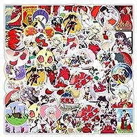 TTKLXJR 10/30 / 50pcs日本のアニメ犬夜叉落書きステッカーノートブックスケートボードコンピューター荷物漫画DIYデカールステッカー (Color : 50pcs)