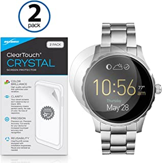 Fossil Q Marshal Screen Protector, BoxWave [ClearTouch Crystal (2-Pack)] HD Film Skin - Shields From Scratches for Fossil Q Marshal, Wander
