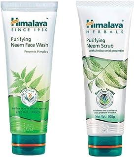 Himalaya Herbals Purifying Neem Scrub, 100g and Himalaya Herbals Purifying Neem Face Wash, 100ml (Combo) - Pack of 1