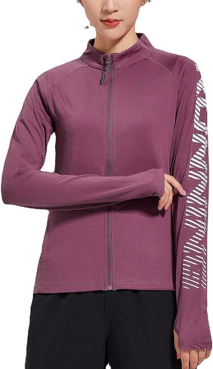 Running Jackets for Women Full-Zip Long Slim Fit Athleti Super intense 100% quality warranty! SALE Sleeve