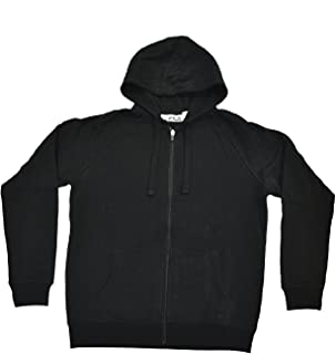 Full Zip Hooded Soft Fleece Men's Sweatshirt with Media Pocket