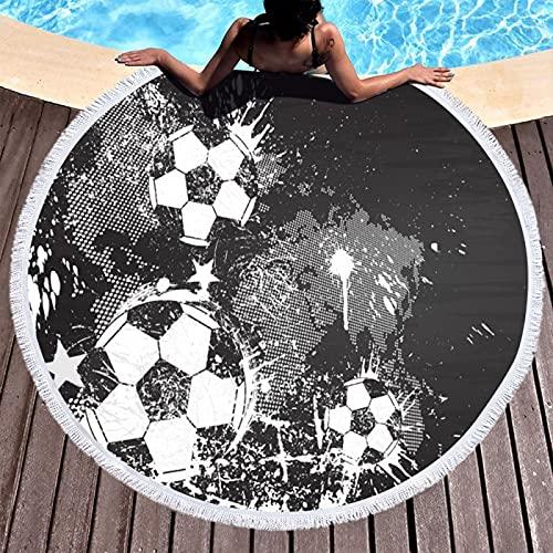 NHhuai Toallas - Microfibra Toalla de Playa Toallas de Acampada Piscina Toalla de baño Redonda Serie Ball