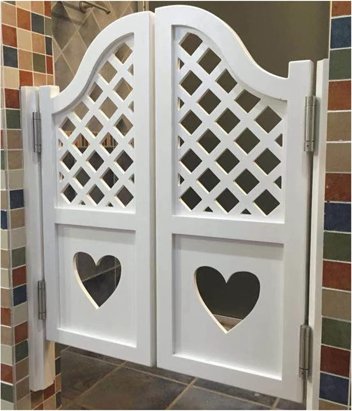 Puerta de café, puerta de la cerca del patio, puerta de partición interior con bisagras, cierre automático de la puerta de madera maciza, puerta de entrada a la cocina, puerta del pasillo