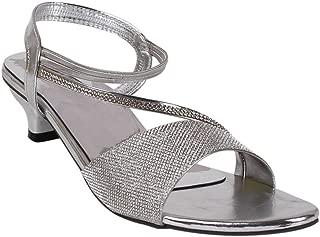 Footshez Women's Silver Heel Sandal