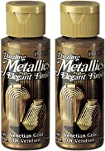 2-Pack - DecoArt Dazzling Metallics Acrylic Colors - Venetian Gold, 2-Ounces Each
