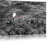 Pixxprint Eisenbahnviadukt in Schottland als Leinwandbild |
