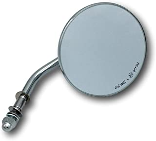 4 Zoll (ca. 10cm) Custom Spiegel rund Chrom mit E Zulassung für Harley Davidson® Motorrad (rechts oder Links geeignet)