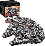 MOMAMO Technic Star Wars Millennium Falcon Modelo de Nave Espacial, 7528 Piezas de Gran Juego de construcción de Nave Espacial Compatible con Lego 84 * 56 * 21cm