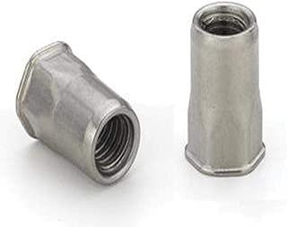 Low PRO HD 10-24 Material Thickness ATS2-1024 Steel RND Nutsert Splined CAD CLR 100 PK Nutsert Insert .030-Up
