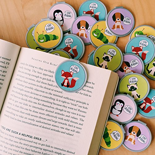 I Love Reading Bookmarks - 36 Bulk Bookmarks for Kids girl's boys- School Student Incentives – Library incentives – Reading Incentives - Party Favor Prizes - Classroom Reading Awards!
