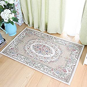 Ukeler Rustic Floral Area Rugs for Living Room Bedroom Dinning Room