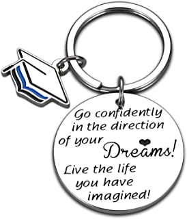 Back to School Gifts for Kids High School Graduate Boy Girl Inspirational Keychain for Daughter Son Teenagers College Grad...