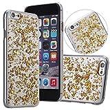 Venusau NEW Classic Foil Flakes PC Phone Case for Iphone 6/6s (Gold)