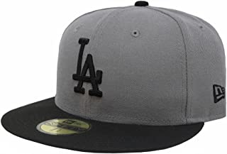 New Era 59Fifty MLB Basic Los Angeles Dodgers Gray/Black Fitted Headwear Cap (7 3/8)
