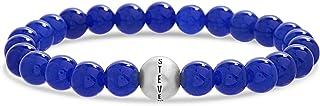 Steve Madden Stainless Steel Beaded Stretch Bracelet for Men
