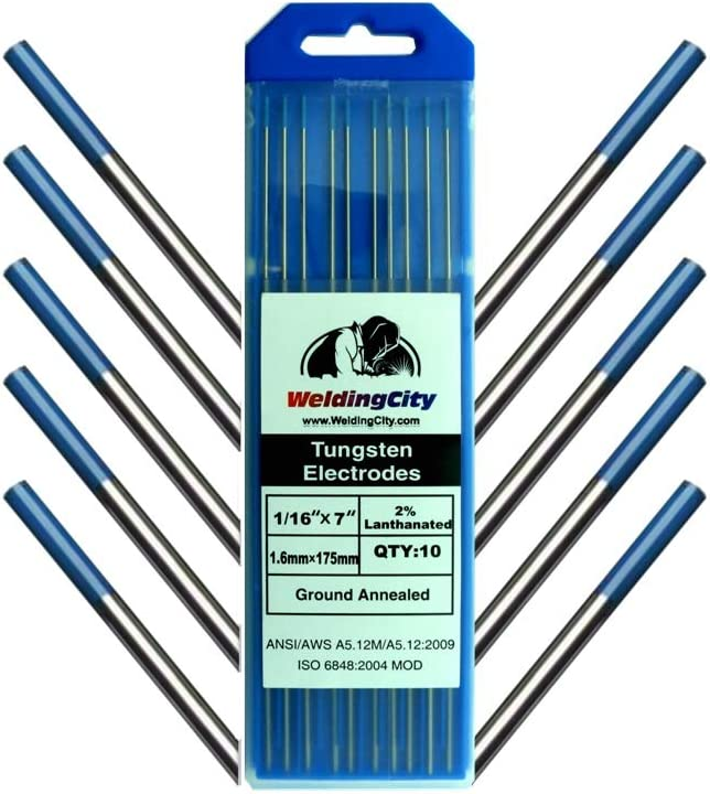 WeldingCity 10-pk Premium TIG Welding 2.0 Industry No. 1 Tungsten Electrode Limited time trial price Rod