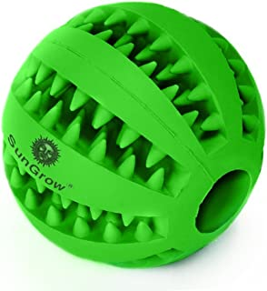 SunGrow Dental Chew Treat Ball for Dogs and Cats, 2.75 Inches, Interactive Pet Training Toy, Boredom Buster, for Physical and Mental Stimulation