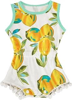 7fc723795c2a Kids Newborn Infant Baby Girls Jumpsuit Romper Outfits Donut Print Buttons  Ruffles Bodysuit Summer Clothes Set
