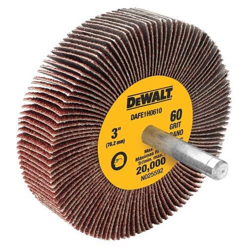 DEWALT DAFE1H0610 3-Inch by 1-Inch by 1/4-Inch HP 60g Flap Wheel