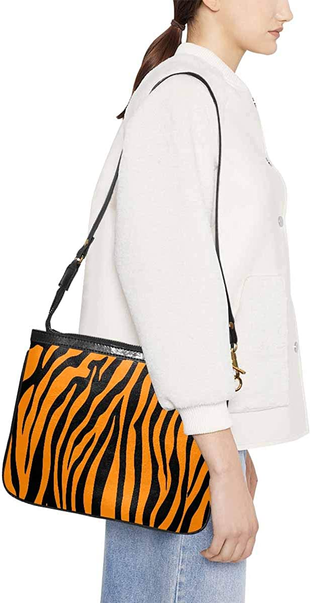InterestPrint Small Crossbody Bag Travel Purse and Handbag with Strap for Women Tiger and Leopard Skin