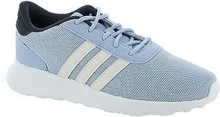 adidas Women's Lite Racer Running Shoe Glow Blue/White/Trace Blue