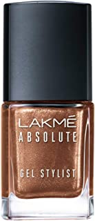 Lakmé Absolute Gel Stylist Nail Color, Gold Dust, 12 ml