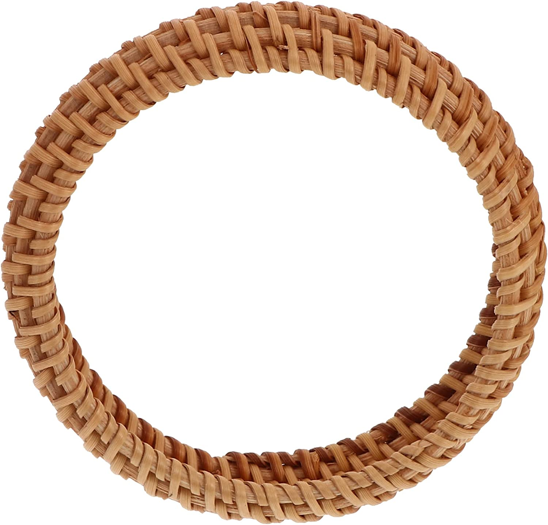 EXCEART Rattan Bracelet Wicker Braid Bangle Straw Woven Bracelet Chunky Bangle Bracelet Jewelry for Women Girls